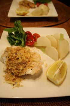料理,鱈のムニエル