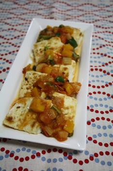 豆腐のメキシカンソース